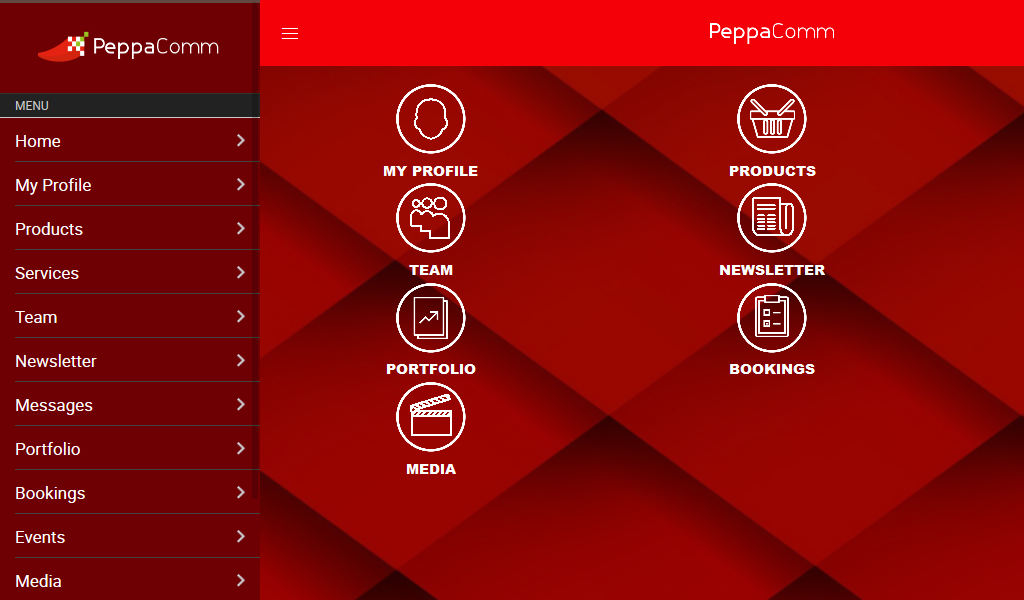PeppaComm- screenshot
