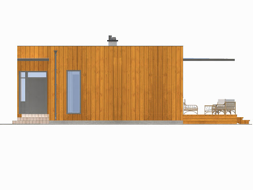 D193 - Dom Prosty - Elewacja prawa