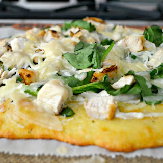 Keto Fat Head Pizza, White Spinach and Chicken Recipe