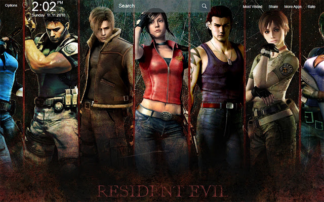 Resident Evil 4 Game Wallpapers Theme New Tab
