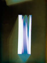 Photo: © Olivier Perrot Photogram Photogramme coul lecture 2000 40x54cm Ref : livre0088