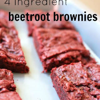 4 Ingredient Beetroot Brownies.
