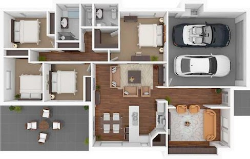 3d home floor plan designs screenshot thumbnail