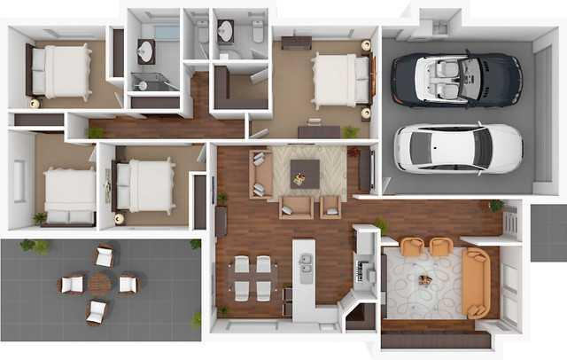 3d Home Floor Plan Designs Screenshot