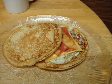 Breakfast Pancake And Egg Sandwich Recipe