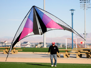 Photo: Gordy flying a classic Prism Illusion