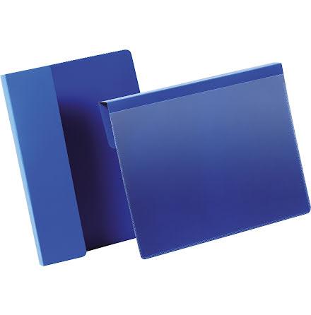 Pallficka A5L vikbar kant blå