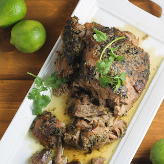 Slow Cooker Cilantro Lime Pork Shoulder
