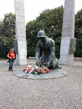 Photo: We rode into another park and came across this hulking statue dedicated to the memory of the bomb defusers and mine clearers who died during the war and in its aftermath. This is a very striking, somber memorial.
