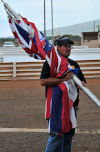 Photo: Mark Caires with an armload of flags...