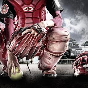catcher by Yudi Leonardo - Sports & Fitness Baseball