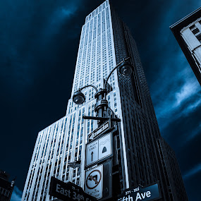 Empire state building by Chris Hughes - Buildings & Architecture Public & Historical ( site seeing, empire state building, new york, nyc, ny, filters, photoshop )