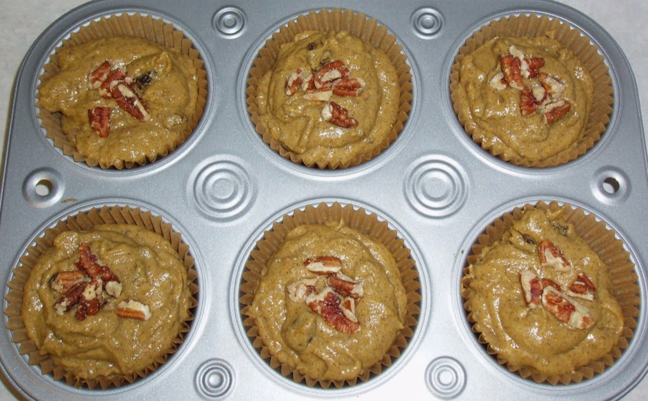 Vegan, gluten free pumpkin bread muffins - YUM! - Cold weather - YUCK!