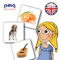 English audio flashcards icon