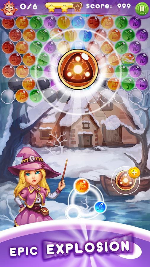 Panda Witch Pop Bubble Shooter- screenshot