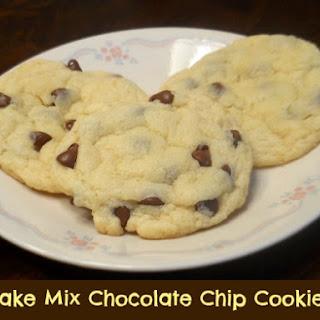 Cake Mix Chocolate Chip Cookies.