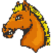 Horse Color by Number-Pixel Art Draw Coloring Book‏