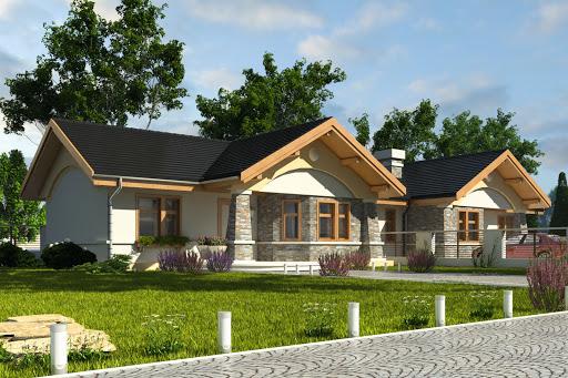 projekt Skowronek bez garażu bliźniak B-BL1