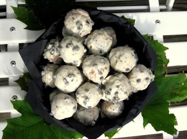 Coconut Cookies With Chocolate Glaze