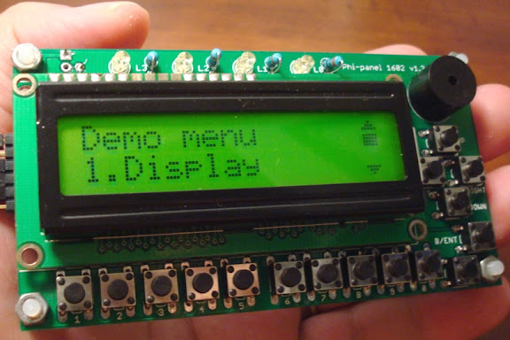 Serial 16X2 LCD keypad panel - Phi-panel - Liudr arduino and