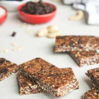 No-Bake Dark Chocolate Cherry Coconut Energy Bars.