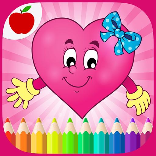 malvorlagen valentinstag baby  zeichnen und färben