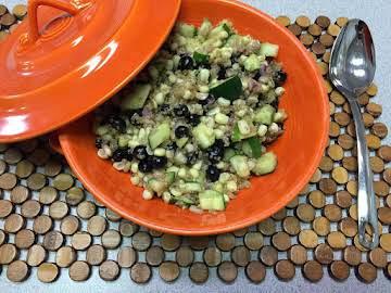 Corn and Blueberry Quinoa Salad