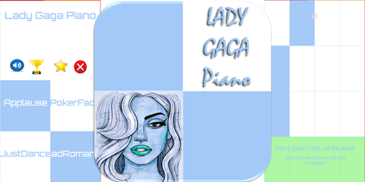 Lady Gaga Piano Tiles