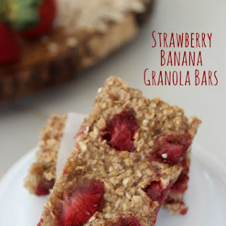 Strawberry Banana Granola Bars