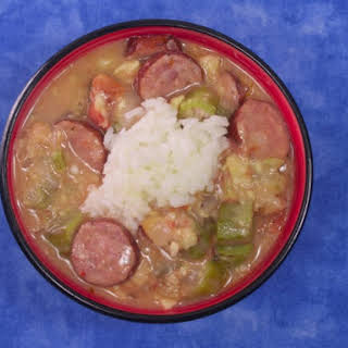 Great Catfish And Smoked Sausage Gumbo.