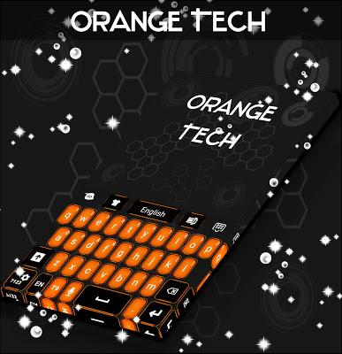 Orange Tech For GO Keyboard - screenshot