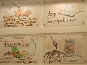 Photo: Signs at a gelateria, Modena