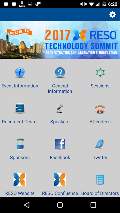 RESO Conferences- screenshot