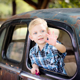 shaundre by Adri Muller - Babies & Children Child Portraits ( waves, outdoor, cars, blue, smile,  )