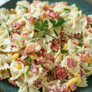 Lighter Homemade Macaroni Salad.
