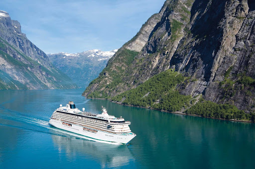 Visit the timeless Nordic village of Geiranger when you sail on Crystal Symphony.