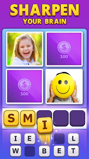 4 Pics 1 Word Pro - Pic to Word, Word Puzzle Game  screenshots 1