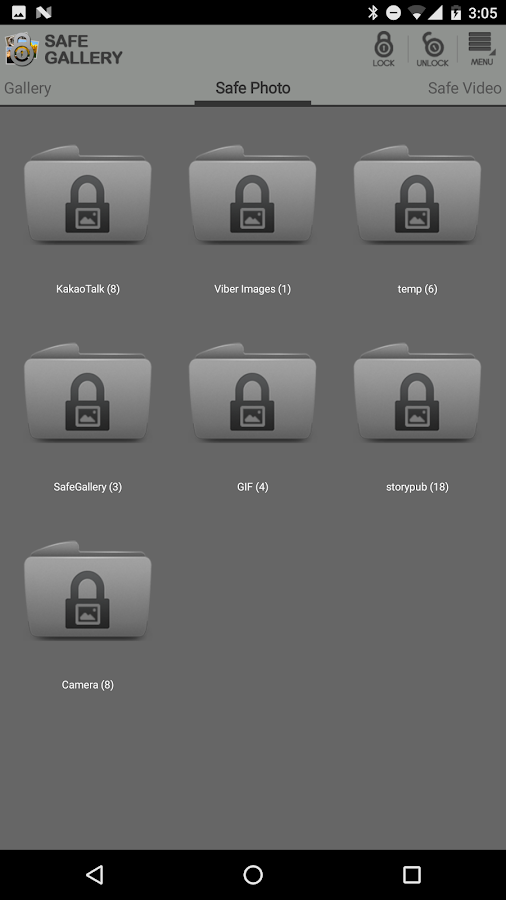 Screenshots of Safe Gallery (Media Lock) for iPhone
