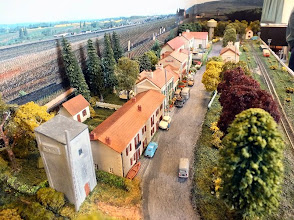 Photo: 019 A view down the village street at St Frazel le Chateau, Sy Newitt's Nm scale French layout .