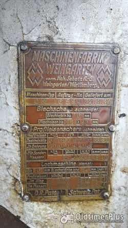 Blechschneide Maschine 1927 Foto 7