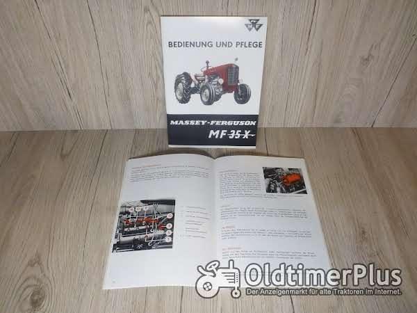 Massey Ferguson Bedienungsanleitung Traktor MF35 X Foto 1