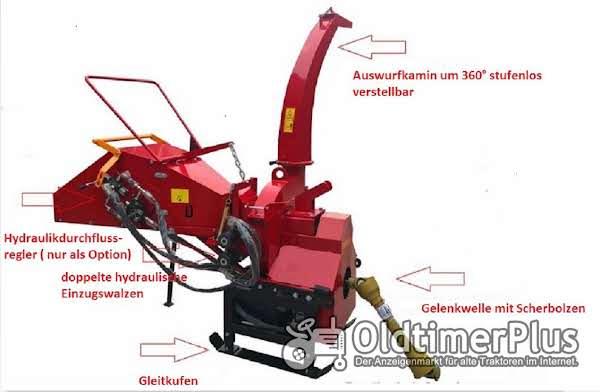 Holzhäcksler mit eigener Hydraulikversorgung - keine Schlepperhydraulik erforderlich! AgrimeXX WC 8 H Foto 1