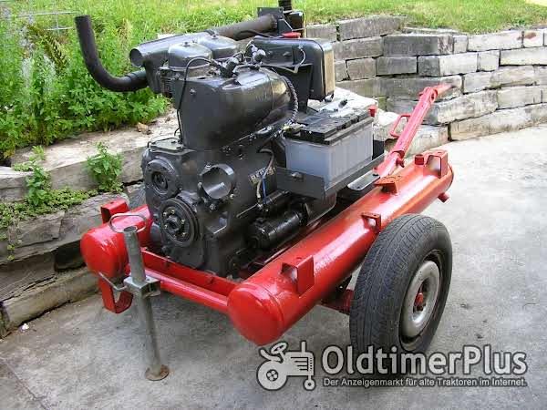 Deutz F2L 713 Motor auf Fahrgestell Foto 1