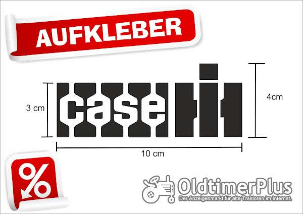 CASE Aufkleber 10 cm x 4 cm, schwarz Foto 1