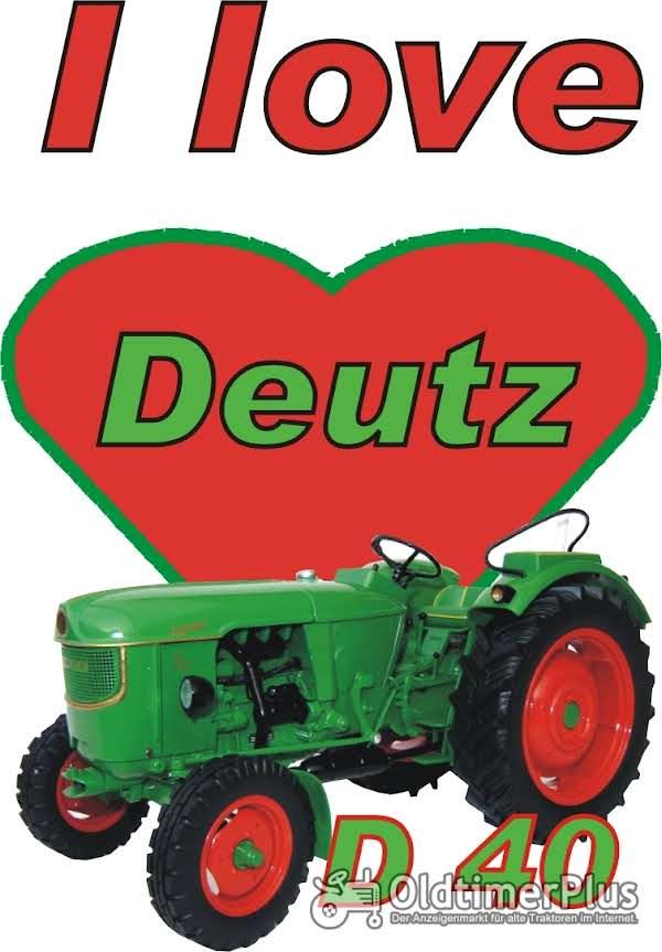 I love Deutz D 40 T-Shirt Foto 1