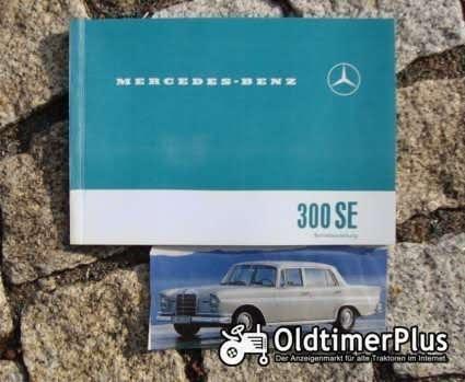 Betriebsanleitung Mercedes 300 SE Heckflosse 1961 W112 Foto 1