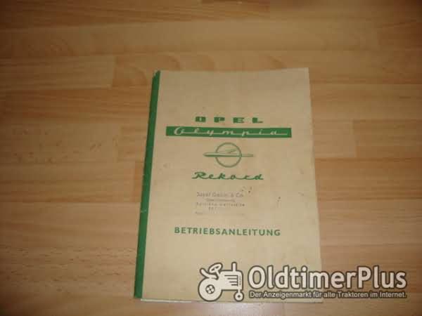 orig. Betriebsanleitung Opel Olympia Rekord P1 1959 Foto 1