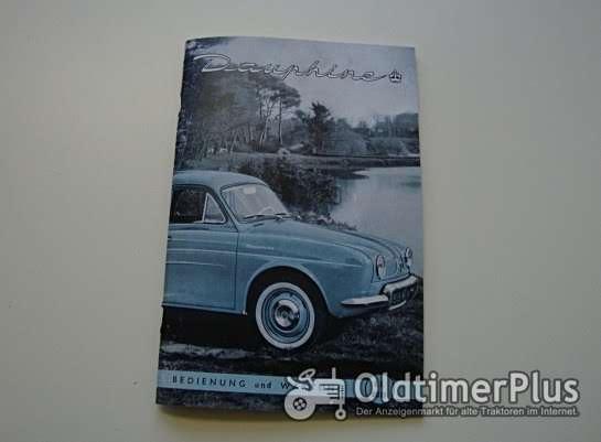 Betriebsanleitung Renault Dauphine 1959 Foto 1