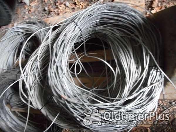 Drahtseil 4mm , ca 1500m lang Stahlseil Stahldrahtseil Foto 1