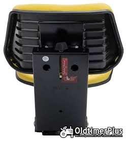 Universal Traktorsitz gepolstert gelb, stufenlos 50 - 120 kg belastbar NEU Foto 4